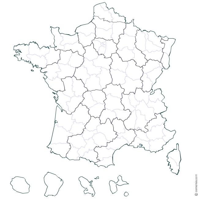 Carte de France des commerciaux NP Créations